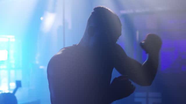 vidéos et rushes de les gens les plus forts savent se battre seuls - ombre
