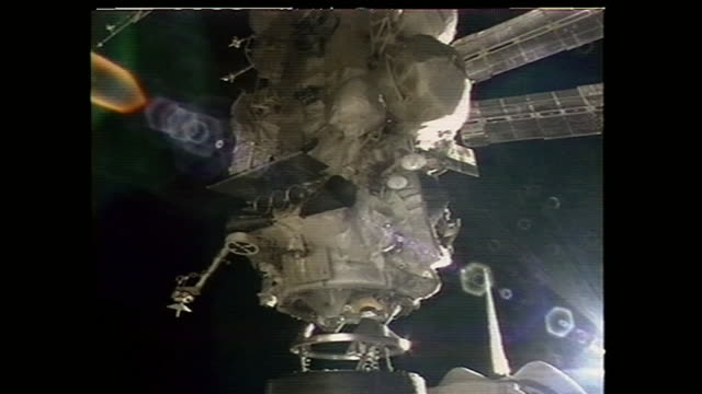 The STS71 was the third mission of the US/Russian ShuttleMir Program and the first Space Shuttle docking to Russian space station Mir The image is...