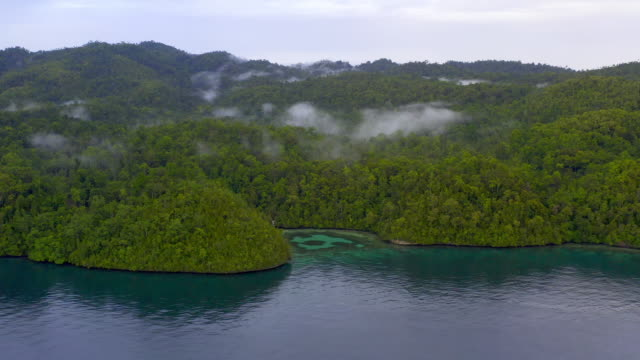 the sublime scenery of raja ampat - island stock videos & royalty-free footage