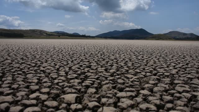 the suesca lagoon, which is experiencing a severe drought, is seen near the municipality of suesca, colombia on february 17, 2021. the suesca lagoon,... - emotional stress stock videos & royalty-free footage
