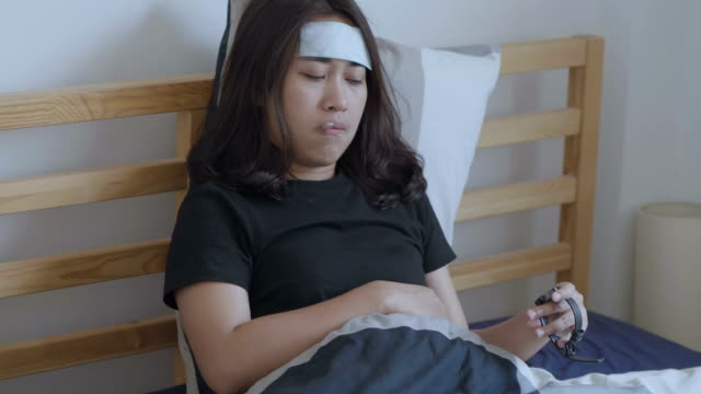 the sufferings of the illness girl. - snoring stock videos and b-roll footage