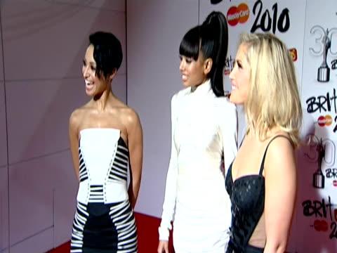 The Sugababes at the The Brit Awards 2010 at London England