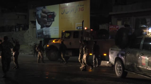 the suicide bomber of taliban struck the defence ministry bus carrying afghan army personnel killing at least 7 soldiers and 18 wounded according to... - 2001年~ アフガニスタン紛争点の映像素材/bロール