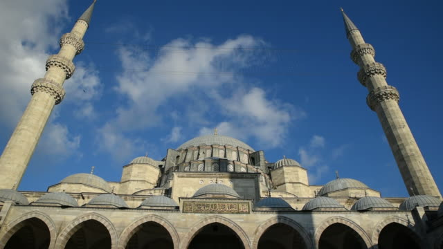 the suleymaniye mosque at istanbul - suleymaniye mosque stock videos and b-roll footage
