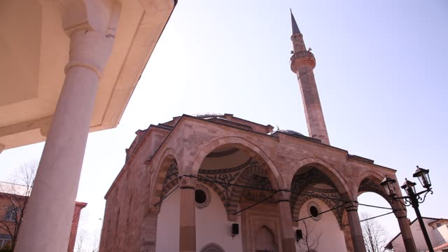 the sultan mehmet fatih mosque - pristina stock videos and b-roll footage