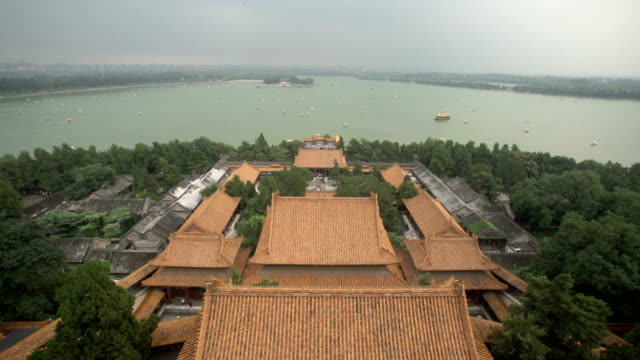 the summer palace in summer - summer palace beijing stock videos & royalty-free footage