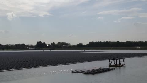 the sun is setting on japan's clean energy boom despite projects like a massive floating solar farm near tokyo as the government cuts subsidies and... - nuclear energy stock videos & royalty-free footage