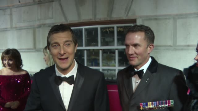 the sun military awards 2018: red carpet interviews; england: london: whitehall: banqueting house: bear grylls interview sot lorraine kelly interview... - lorraine kelly stock videos & royalty-free footage