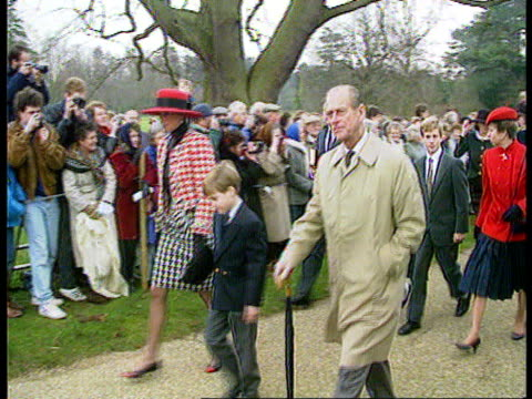 The Sun newspaper/ Prince Andrew's naked photo The Sun newspaper/ Prince Andrew's naked photo EXT Sandringham MS Royal party RL including Princess of...