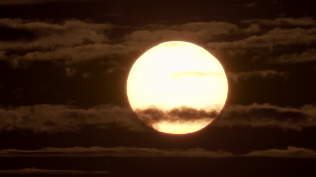 the sun, our star at sunset - orange color stock videos & royalty-free footage
