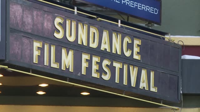 stockvideo's en b-roll-footage met the sundance film festival opens in the mountains of utah thursday with a provocative mix of movies focused on topical and timely issues as well as... - sundance film festival