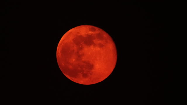 the super pink moon - midnight stock videos & royalty-free footage