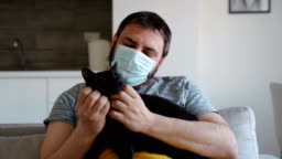 the support and love of our pets in corona virus pandemic-stay at home