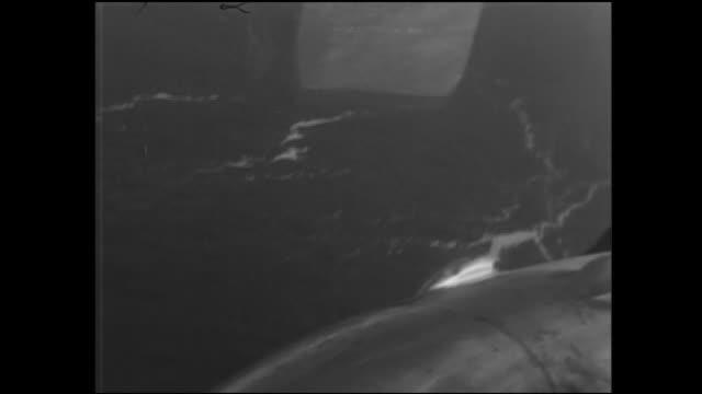 stockvideo's en b-roll-footage met the surface of the sea shows the eruption of the submarine volcano myojin-sho. - breedbeeldformaat