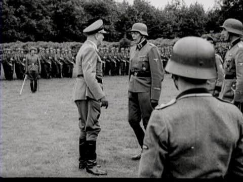 the swearing-in of dutch men who voluntarily joined the waffen ss - oath stock videos & royalty-free footage
