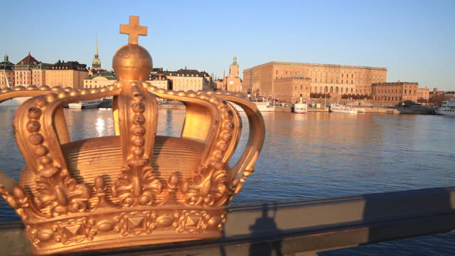 the swedish crown - crown headwear stock videos and b-roll footage