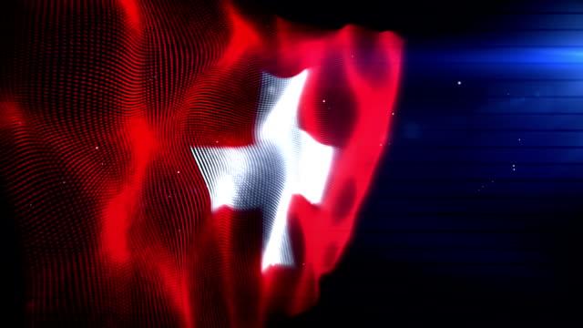 The Swiss Flag - Background Loop (Full HD)