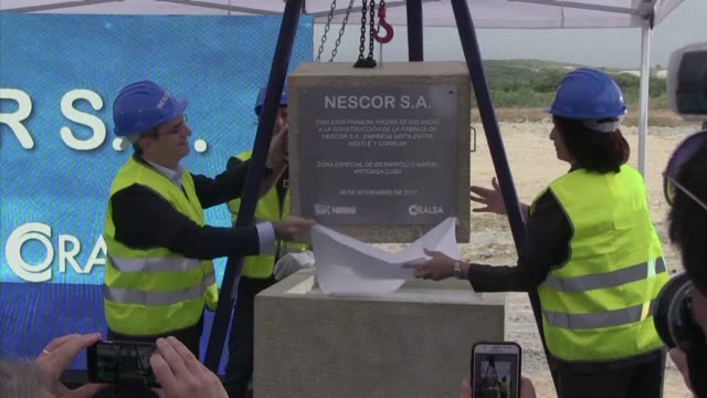 The Swiss giant Nestle and the Cuban state firm Coralsa laid down on Tuesday the first stone of their third joint venture on the Caribbean island...