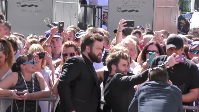 the swon brothers arriving to the 52nd academy of country music awards in celebrity sightings in las vegas - academy of country music awards stock videos & royalty-free footage