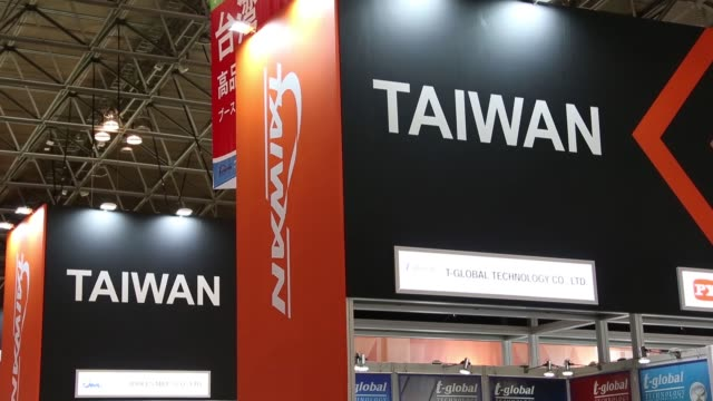 The Taiwan booth stands at the Cutting Edge IT Electronics Comprehensive Exhibition CEATEC at Makuhari Messe in Chiba Japan on Thursday Oct 8 2015