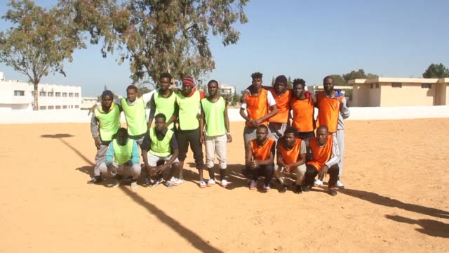 The Tajoura migrant camp on the edge of Libya's Tripoli was the scene of a clash between lions teams of Cameroonian and Senegalese footballers whose...