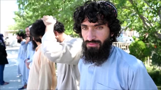 the taliban says they are ready for peace talks with the afghan government as authorities announced that the release of hundreds of militants accused... - bagram stock videos & royalty-free footage