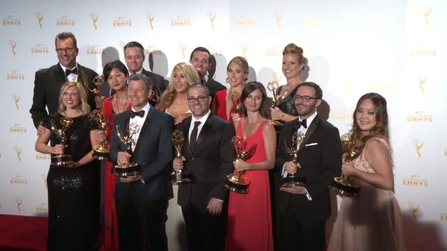 the team of shark tank at the 2015 creative arts emmy awards at microsoft theater on september 12 2015 in los angeles california - emmy awards stock-videos und b-roll-filmmaterial