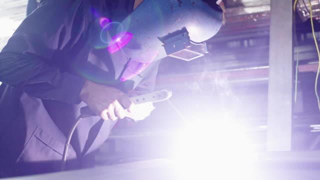 the technician is welding stainless steel. - steel stock videos & royalty-free footage