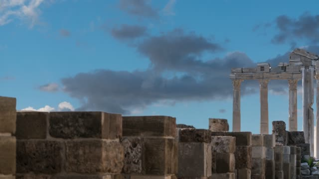 the temple of apollon side turkey - archaeology stock videos & royalty-free footage