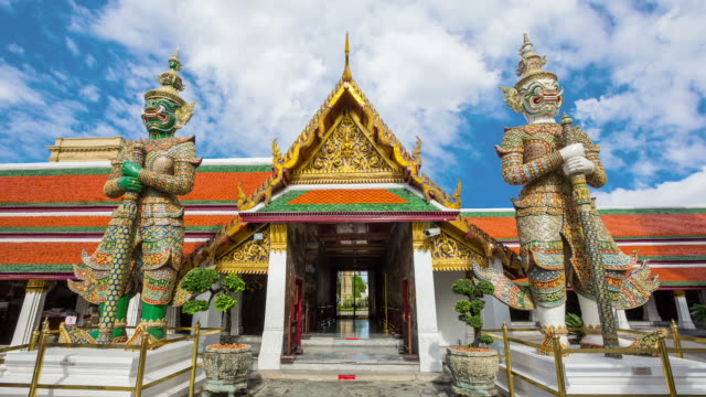 the temple of emerald buddha in bangkok - buddha stock videos and b-roll footage