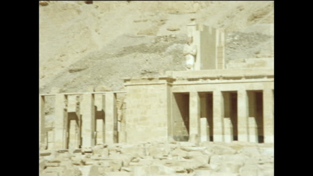 the temple of hapshetsut. montage. - tal der könige stock-videos und b-roll-filmmaterial