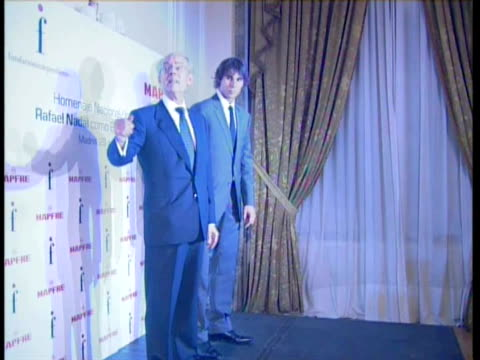 The tennis player Rafael Nadal awarded as Universal Spanish Madrid Spain