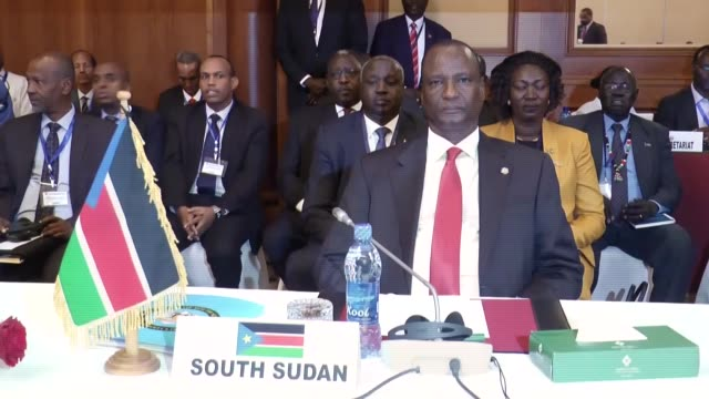 the the leaders of the east african regional block - the inter-governmental authority on development assembly of heads of state and government held... - chairperson stock videos & royalty-free footage