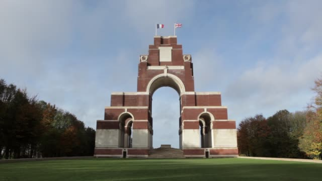 WS The Thiepval Memorial to the missing of the Somme bears the names of 73357 officers and men of the United Kingdom and South African forces who...