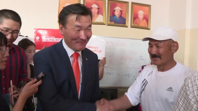 the third place finisher ganbaatar sainkhuu in mongolia's presidential vote cries foul and demands a recount after electoral authorities declared he... - runoff election stock videos & royalty-free footage