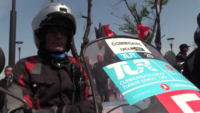 the third stage of the 55th presidential cycling tour of turkey started in canakkale on thursday the third stage started in canakkale and will end in... - eurasia stock videos and b-roll footage