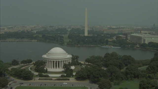 The Thomas Jefferson Memorial towers over the National Mall.