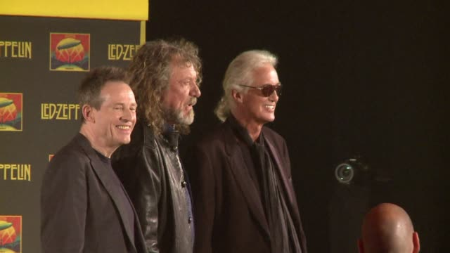 the three surviving members of the iconic 1970s british rock band led zeppelin on friday launched a dvd based on their 2007 tribute concert in... - 2007 stock-videos und b-roll-filmmaterial