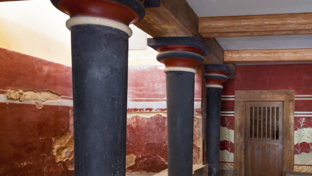 The Throne Room was named, Knossos palace, Crete Island, Greece