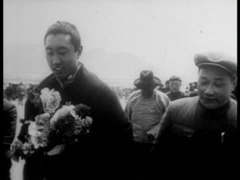 the tibetan local government is abolished and panchen erdeni is installed as acting chairman of tibet - 1959 stock videos & royalty-free footage
