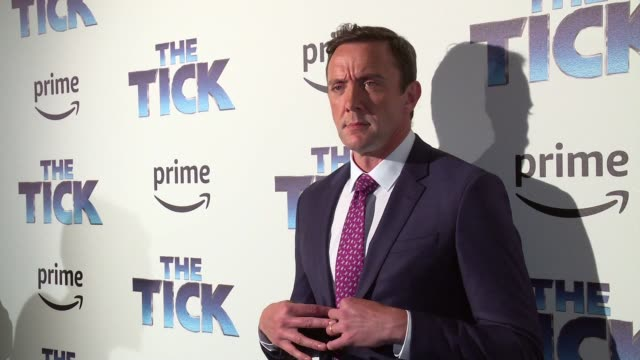 clean the tick blue carpet premiere at village east cinema on august 16 2017 in new york city - michael cerveris stock videos and b-roll footage
