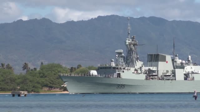 – The Ticonderogaclass cruiser USS Lake Champlain guidedmissile destroyer USS Spruance Halifaxclass frigate and the HMCS Calgary depart Pearl...
