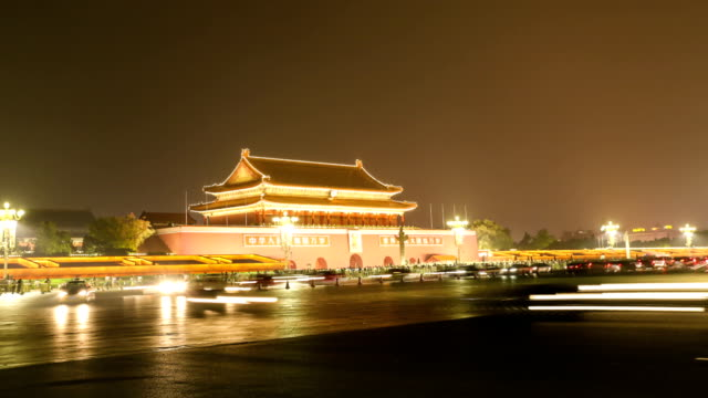 the time-lapse of beijing night