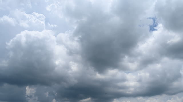the time-lapse sky. clouds move fast with the force of the wind. and the weather that changed quickly - cumulonimbus stock videos & royalty-free footage