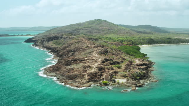 the tip of cape york, northernmost point of the australian mainland - tropical climate stock videos & royalty-free footage