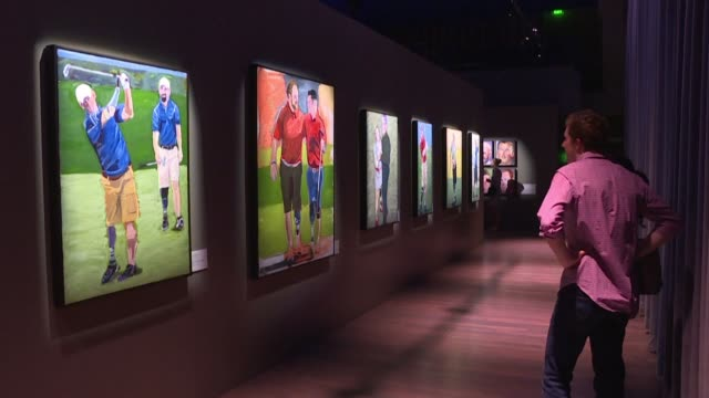 the toll taken on members of the american military sent to war by george w bush is being highlighted in paintings by the former us president at an... - george washington painting stock videos and b-roll footage