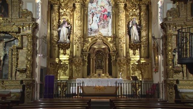 The tomb of Don Quixote's writer Miguel de Cervantes at Trinitarias Descalzas convent during the World Book Day