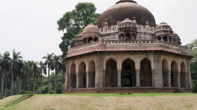 the tomb of mohammed shah, the last of the sayyid dynasty rulers, the earliest of the tombs in the garden, was built in 1444 by ala-ud-din alam shah - punjab pakistan stock videos and b-roll footage