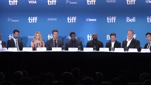 the toronto international festival launches with the world premiere of the remake of a classic western movie the magnificent seven by antoine fuqua - toronto international film festival stock videos and b-roll footage