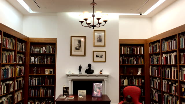 the toronto reference library hold a special collection for sir arthur conan doyle. the landmark is a tourist attraction in the multicultural city. - arthur conan doyle stock videos & royalty-free footage